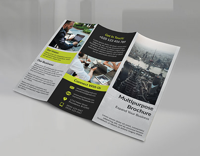 Tri Fold Clean Brochure TEMPLATE