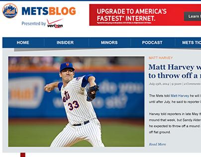 Redesign of Metsblog.com