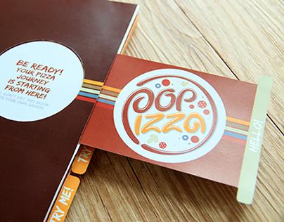 Pop Up Pizza Menu Book