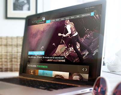 Songdew Website Concept