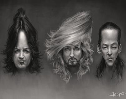 Stryper caricature by Fabio Bispo