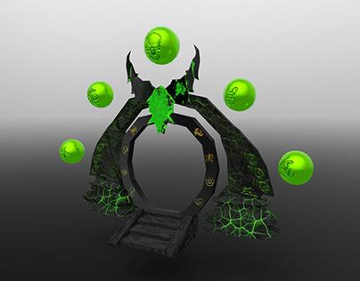 Demonic Gateway/Portal - 3D low-poly game asset