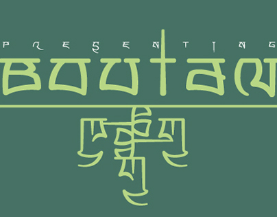 Boutan typeface
