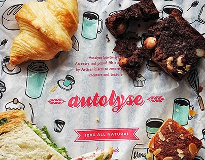 AUTOLYSE BAKERY — coffee cup / packaging design