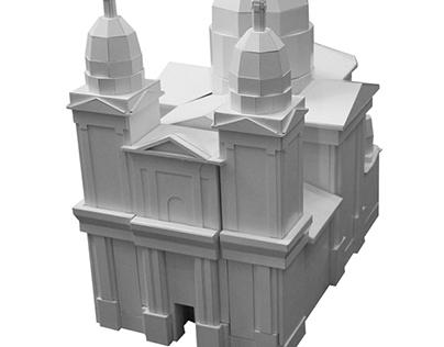 Church. Paper model