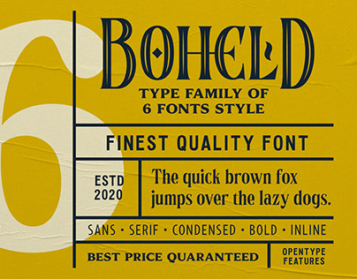 BOHELD FONTS COLLECTION (FREE DEMO)