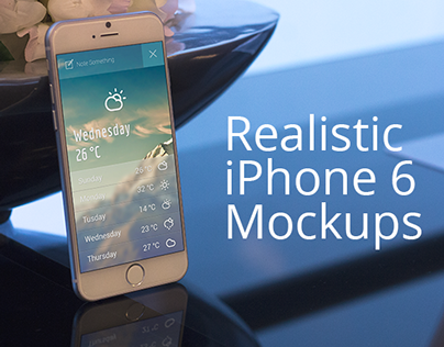 Free iPhone 6 Mockup Set - 6 PSD's