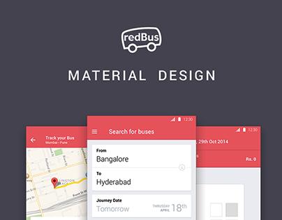 REDBUS APP - Material Design Preview