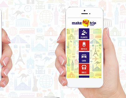 APP DESIGN  CONCEPT FOR MAKE MY TRIP