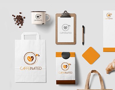 Caffeinated Cafe Branding