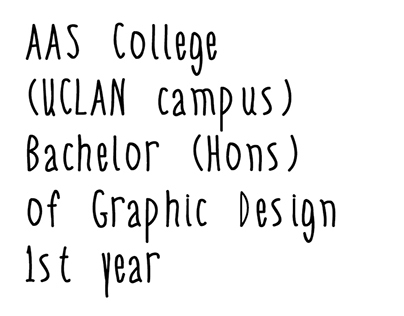 BACHELOR OF GRAPHIC DESIGN - 1ST YEAR