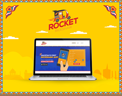 Rocket Rickshaw Website UI Design