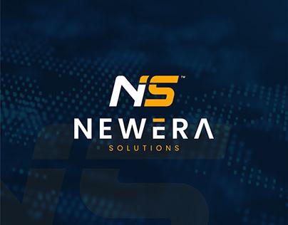 NS Newera Solutions Logo Design