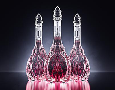 Wine Carafe V., in dark and light.
