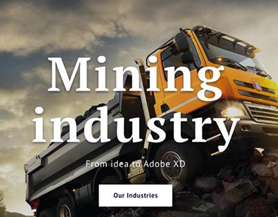 Mining industry ⎮Homepage⎮BM Design