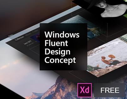 Windows Fluent Design Concept - Adobe XD Free Download