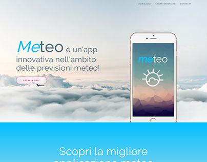 Landing Page - App Meteo