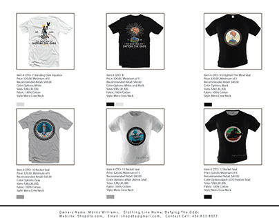 garmance product T-shirt Sell sheet design