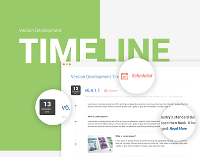 Version Development Timeline UI/UX