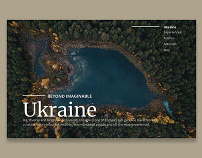 Travel Guide Ukraine Web Design