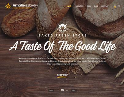 Amalie's Bakery - Onepage PSD Template