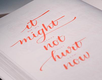 Lyric Calligraphy