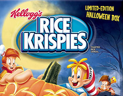 Check out these spooky halloween Rice Krispies