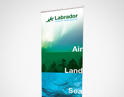 Labrador Freight Forwarders Pop Up Banner