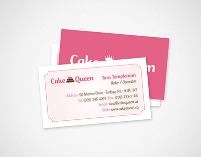 Cake Queen Business Cards