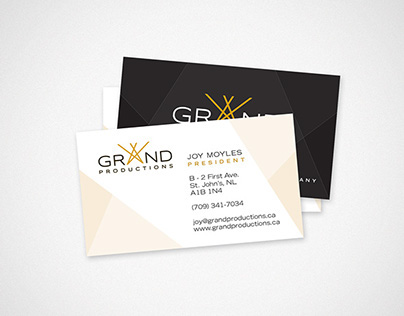 Grand Productions Business Cards