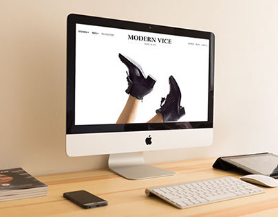 Modern Vice Pop-Up Site