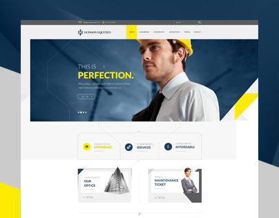 Hudson Construction Web Design