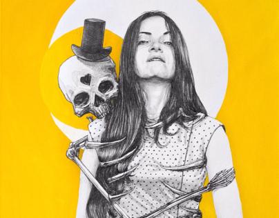 Девушка и скелет