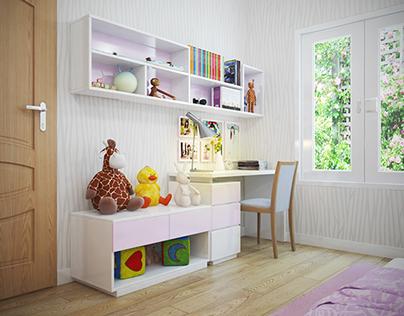 Girls bedroom - Go Vap - Ho Chi Minh City