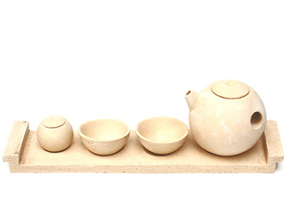 Tea set with tray