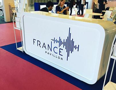 """Logo & Identity of """"French Pavillon"""" for Midem"""