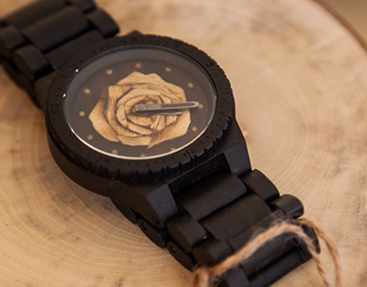 Limited edition WeWood clock face by Wood Arts
