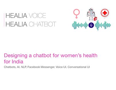 Healia - Chatbot - Voice UX - Woman's Health Assistant