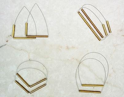 Minimalist Metal Tube Jewelry - Brass Series