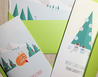 "Collection ""Flat Zoo"" - Christmas & New Year cards"