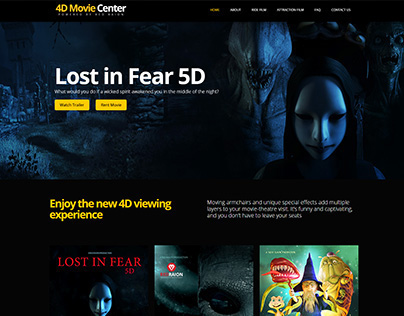 4D Movie Center Red Raion - Web Layout Design