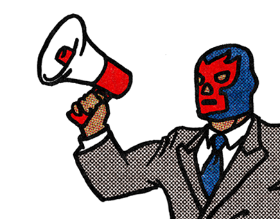 Corporate luchador for The New Movement Theater