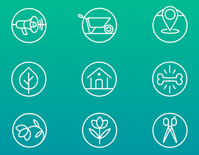 Icons of product categories