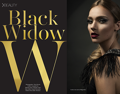 COVER - Black Widow - Fave Beauty Magazine October 2014
