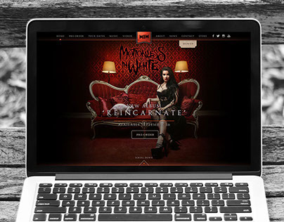 """Motionless In White"" Band Website"