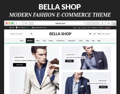 Bella Shop- Modern Fashion E-COmmerce Theme
