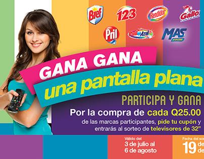 "Material Promocional ""Gana una Pantalla Plana"""