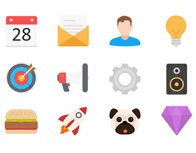 Filo: Flat Vector Icons in 3 Styles