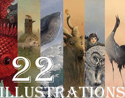 The tiny travelers- 22 illustrations