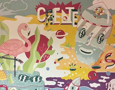 Mural/Office/ Deutsche Telekom Romania